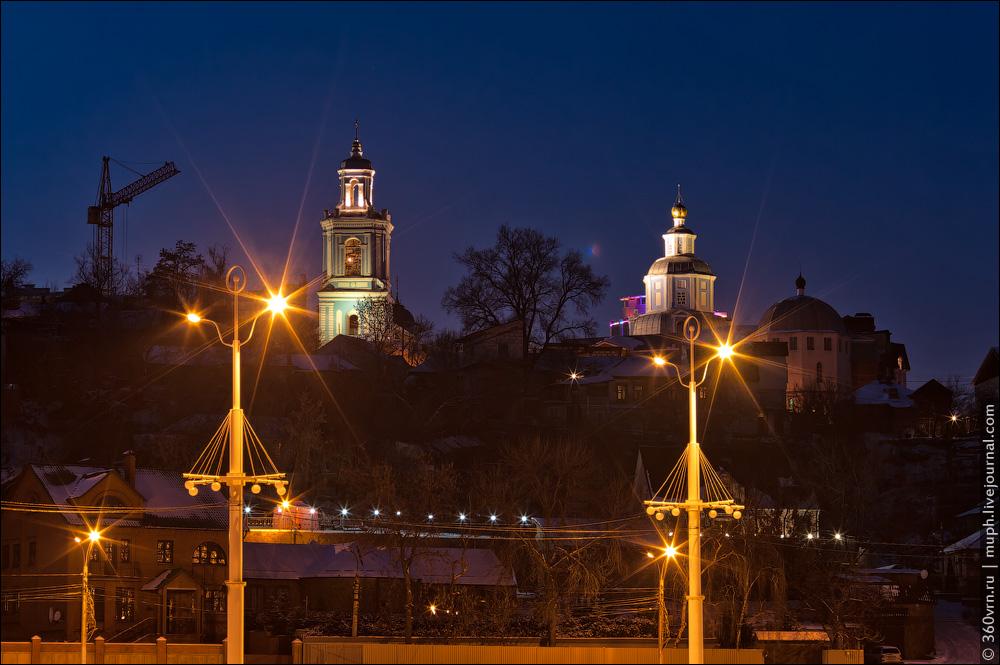 Воронеж зимой фото Никольская церковь