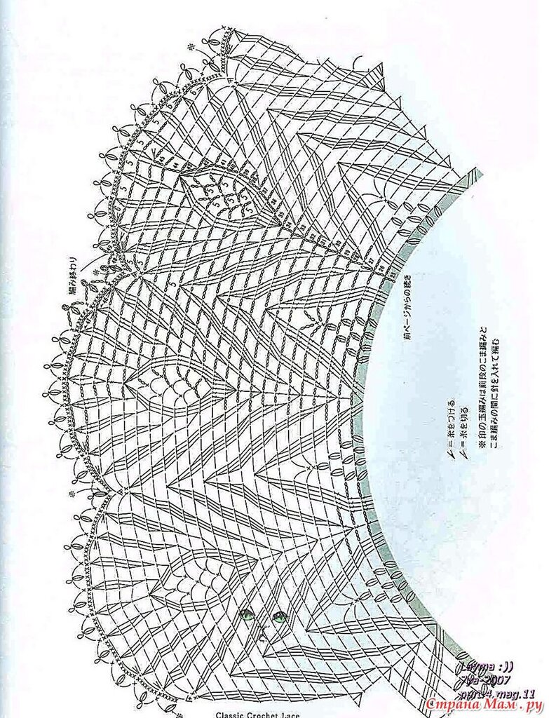 Накидка павлин крючком схема