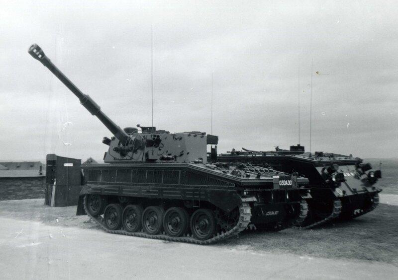 Abot 105 mm SPG and 432 APC Larkhill 1968
