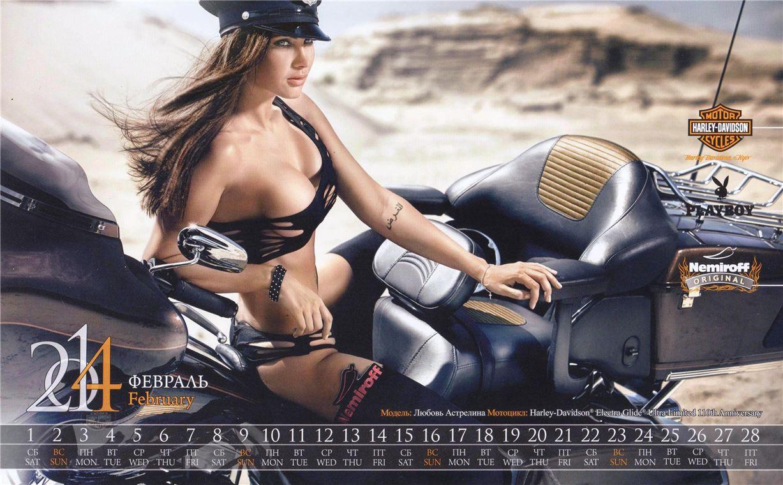 Playboy Ukraine / Harley-Davidson / Nemiroff 2014 calendar - Любовь Астрелина