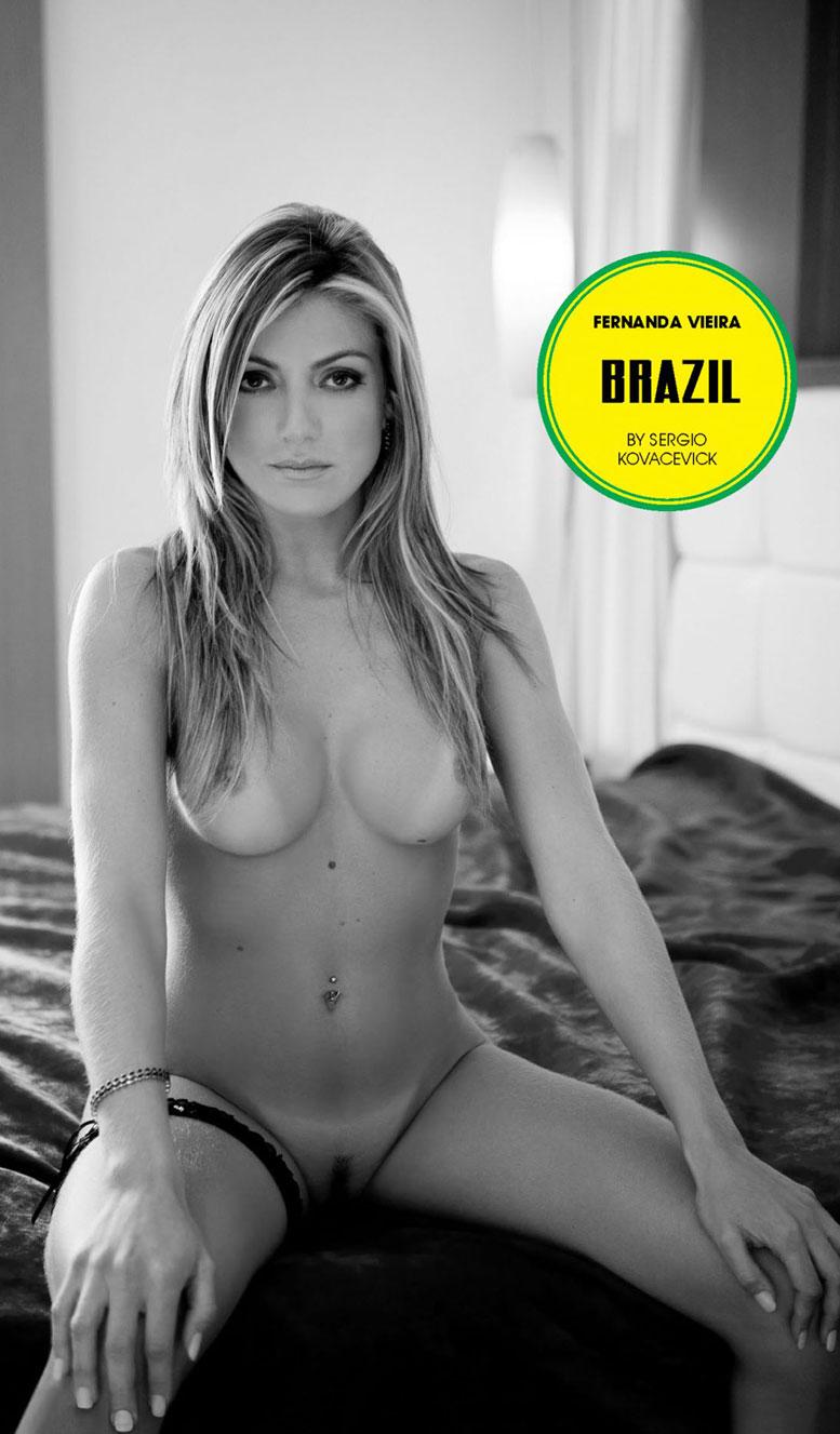 Brazil / Fernanda Vieira - Playboy South Africa june 2014 / FIFA Fever