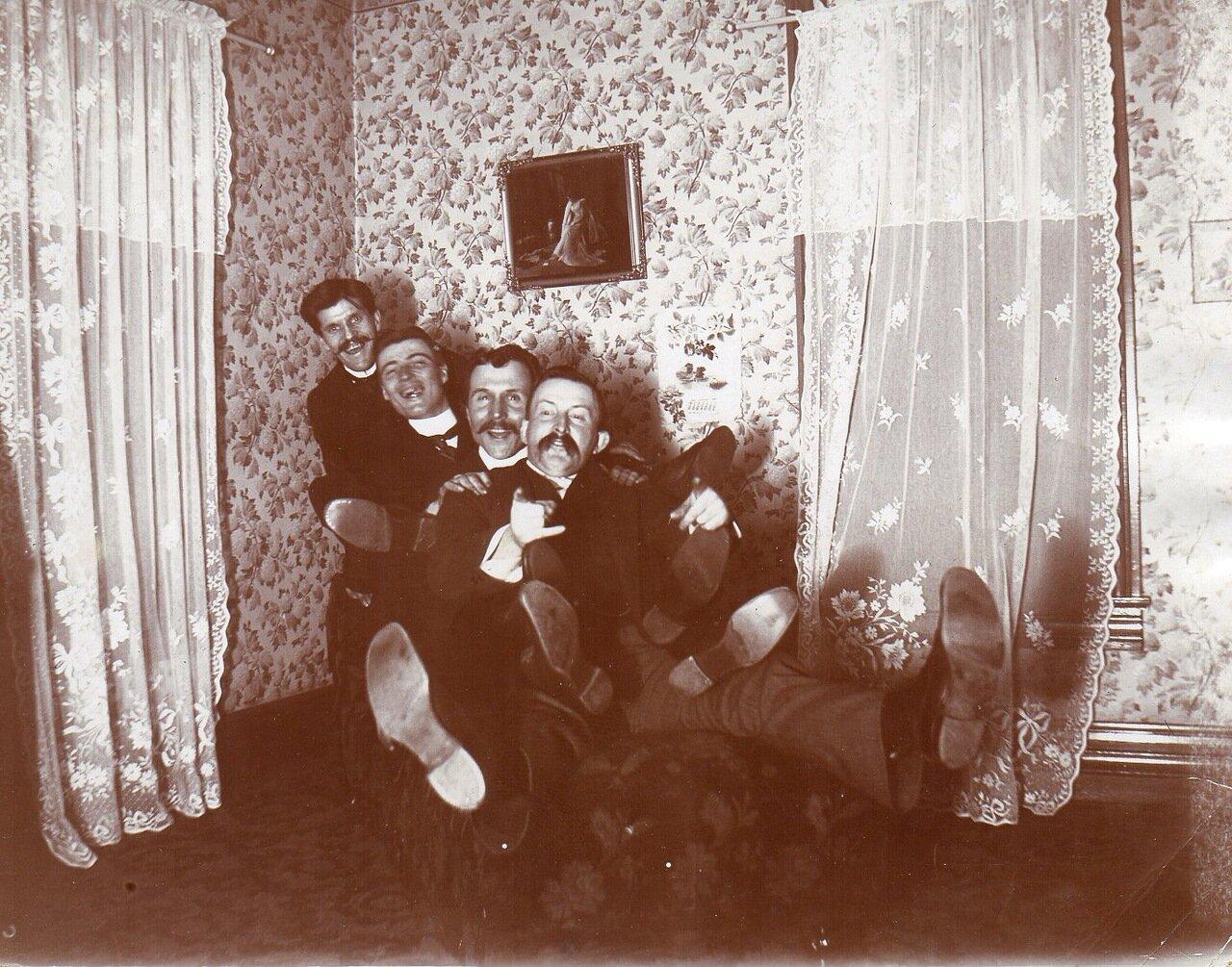 1901. Празднование Нового года в Пембервиле, Огайо