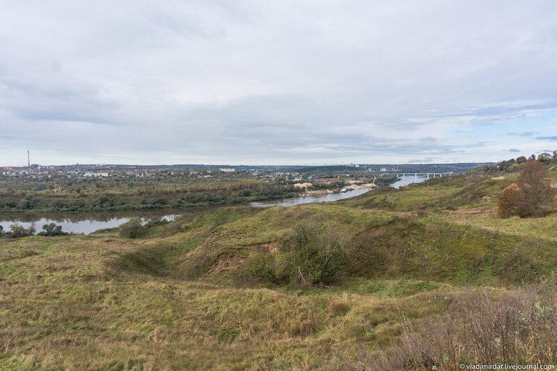 Вид на Оку с Сорокинского городища