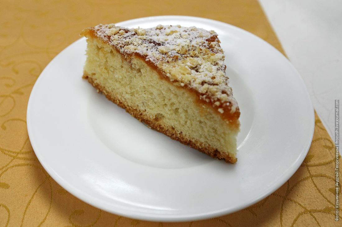 Пирог лимонный с повидлом