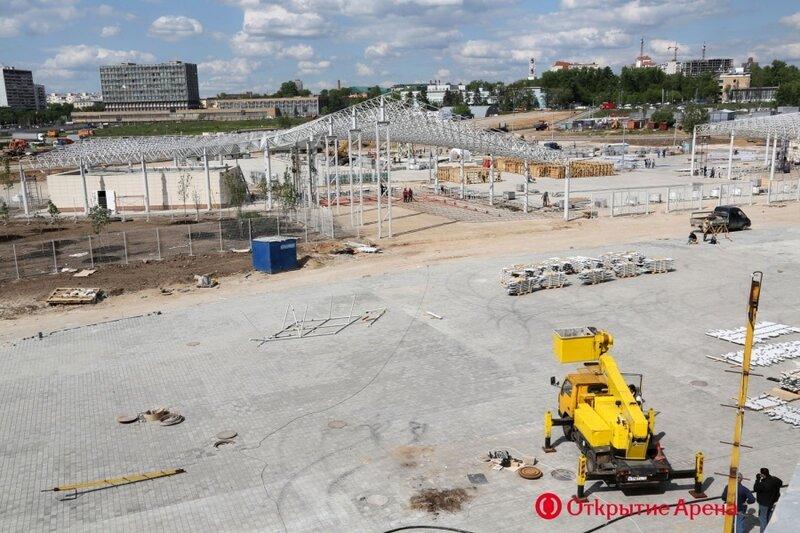 Строительство стадиона «Спартак». Май 2014