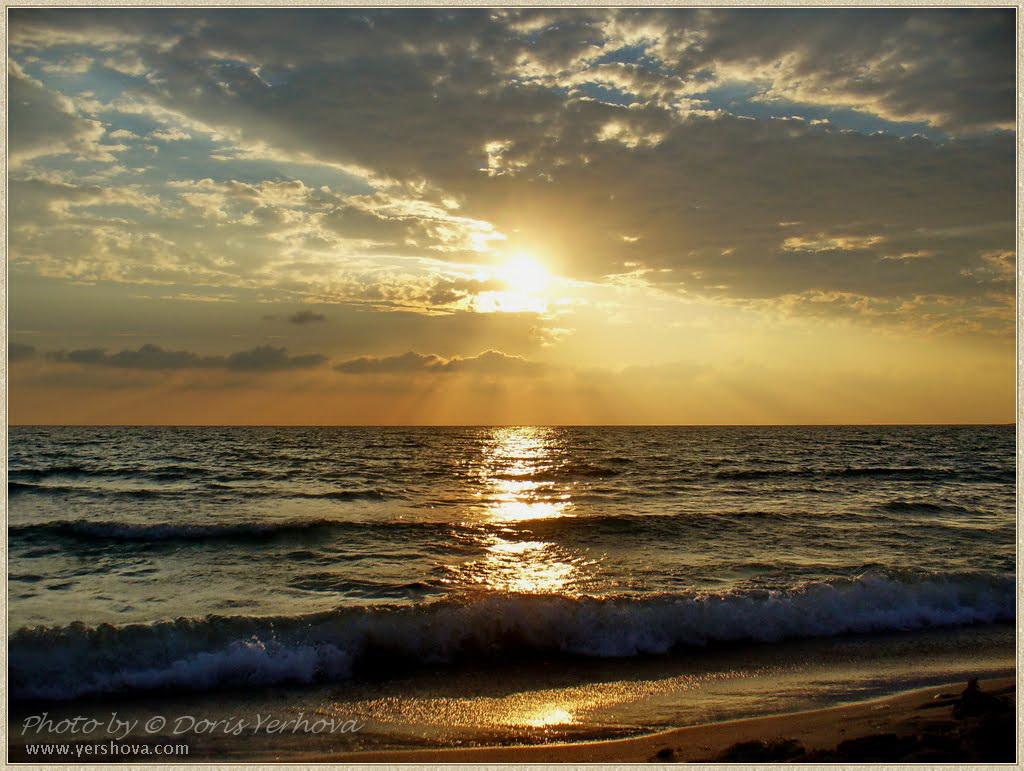закат на черном море летом фото ©Дорис Ершова