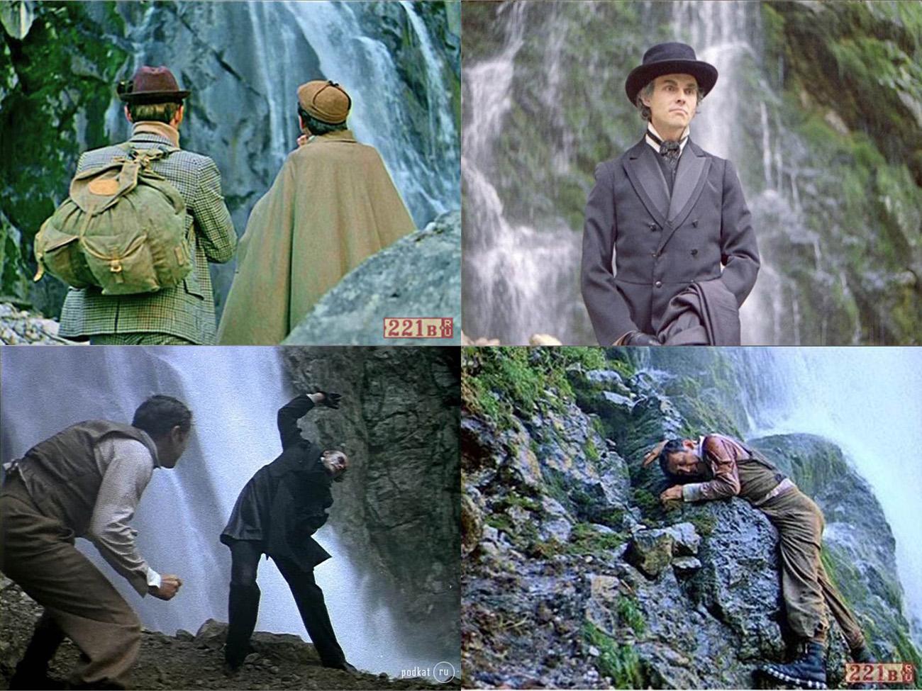 Шерлок Холмс на Гегском водопаде.