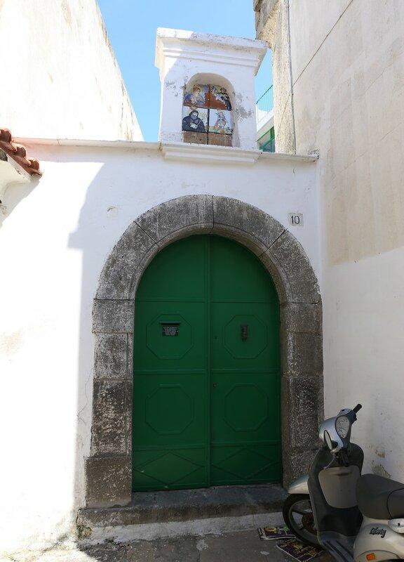 Ischia, Forio. The street of Casa di Maio