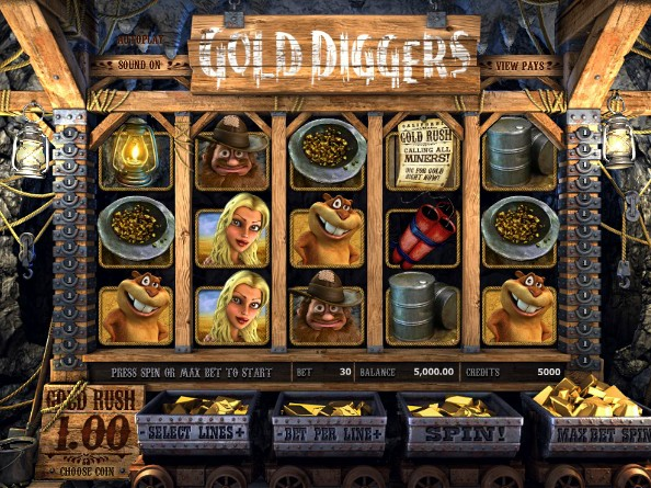 игра золотоискатели интерфейс