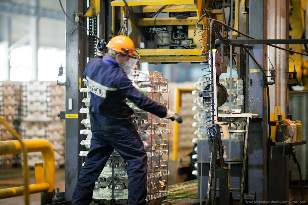 Как производят алюминий. Хакасский алюминиевый завод