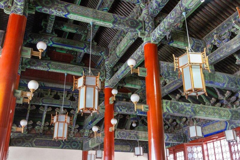 Потолок Зала Сунь Ятсена, парк Чжуншань гунъюань, Пекин