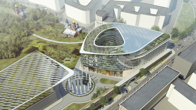 Проект новой гостиницы в Зарядье на месте снесённых домов