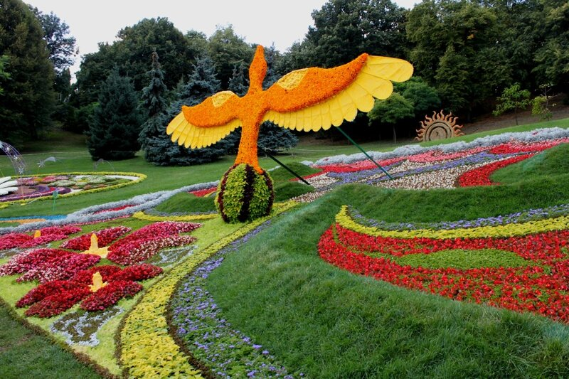 композиция печерского района выставка цветов киев