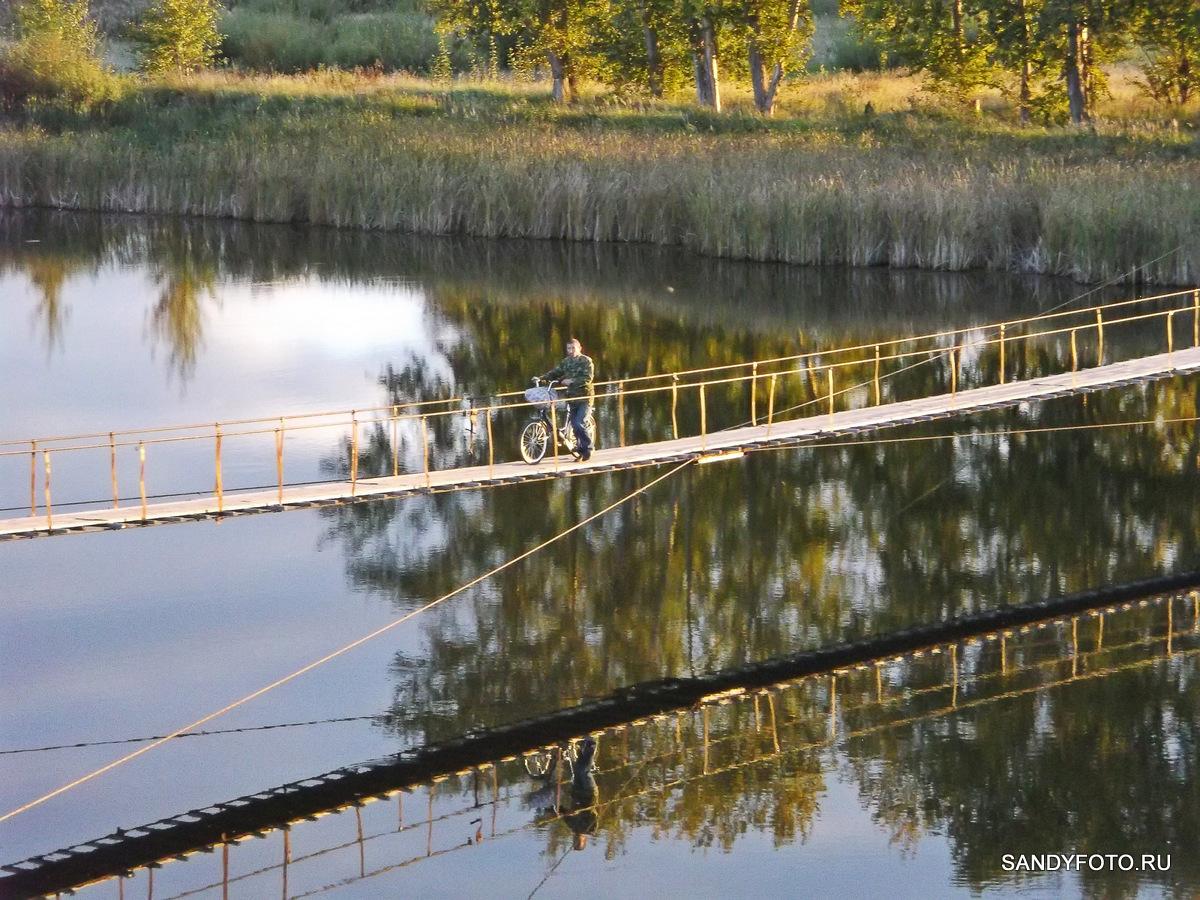 Подвесной мост в Троицке — фотоподборка/обзор