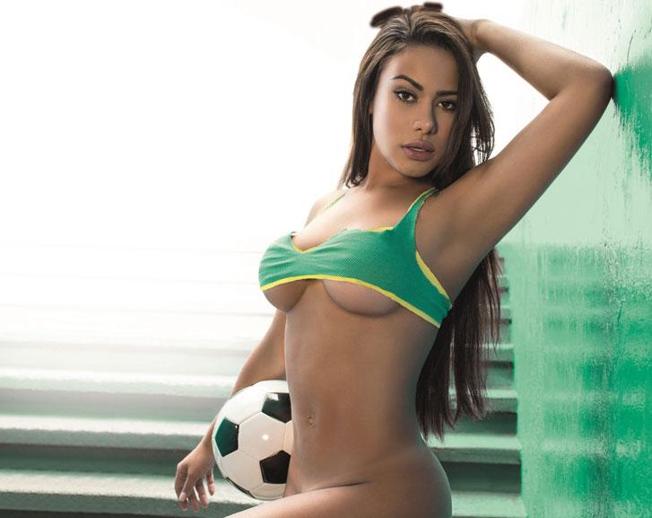 Голая футболистка Патрисия Джордан / Patricia Jordane - Playboy Germany july 2014