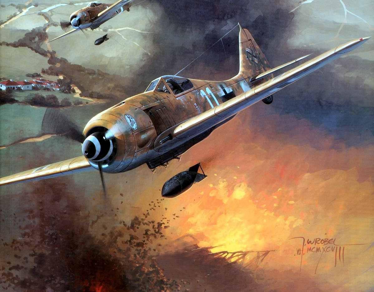 Немецкий истребитель-бомбардировщик Focke-Wulf Fw 190