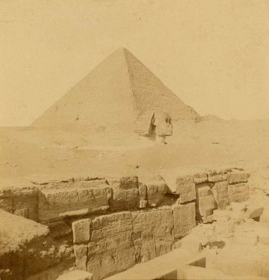 Гиза. Сфинкс и Пирамиды. 1860-е