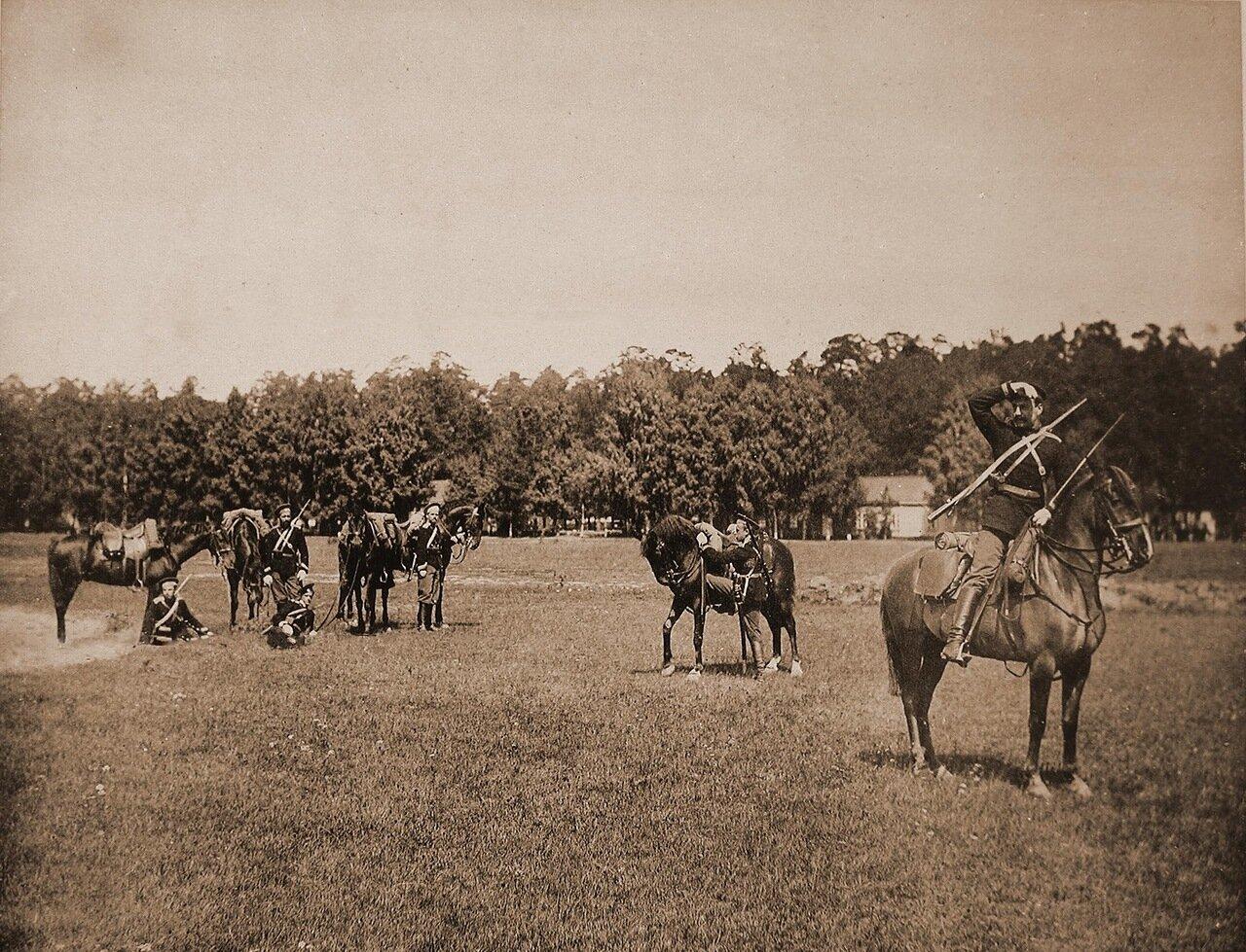 15. Группа юнкеров на лошадях на сторожевом посту