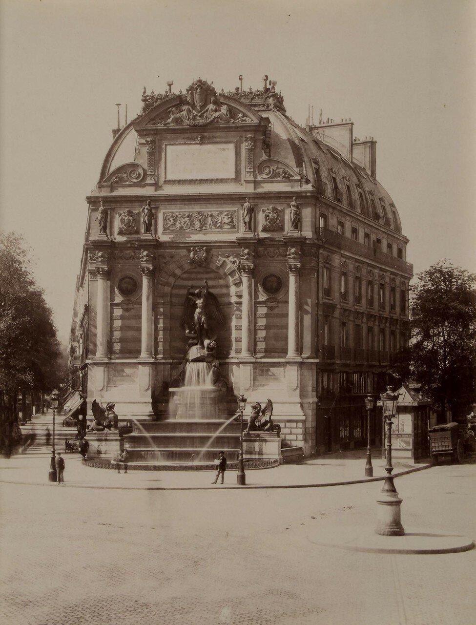 1867.  Фонтан на Площадь Сен-Мишель