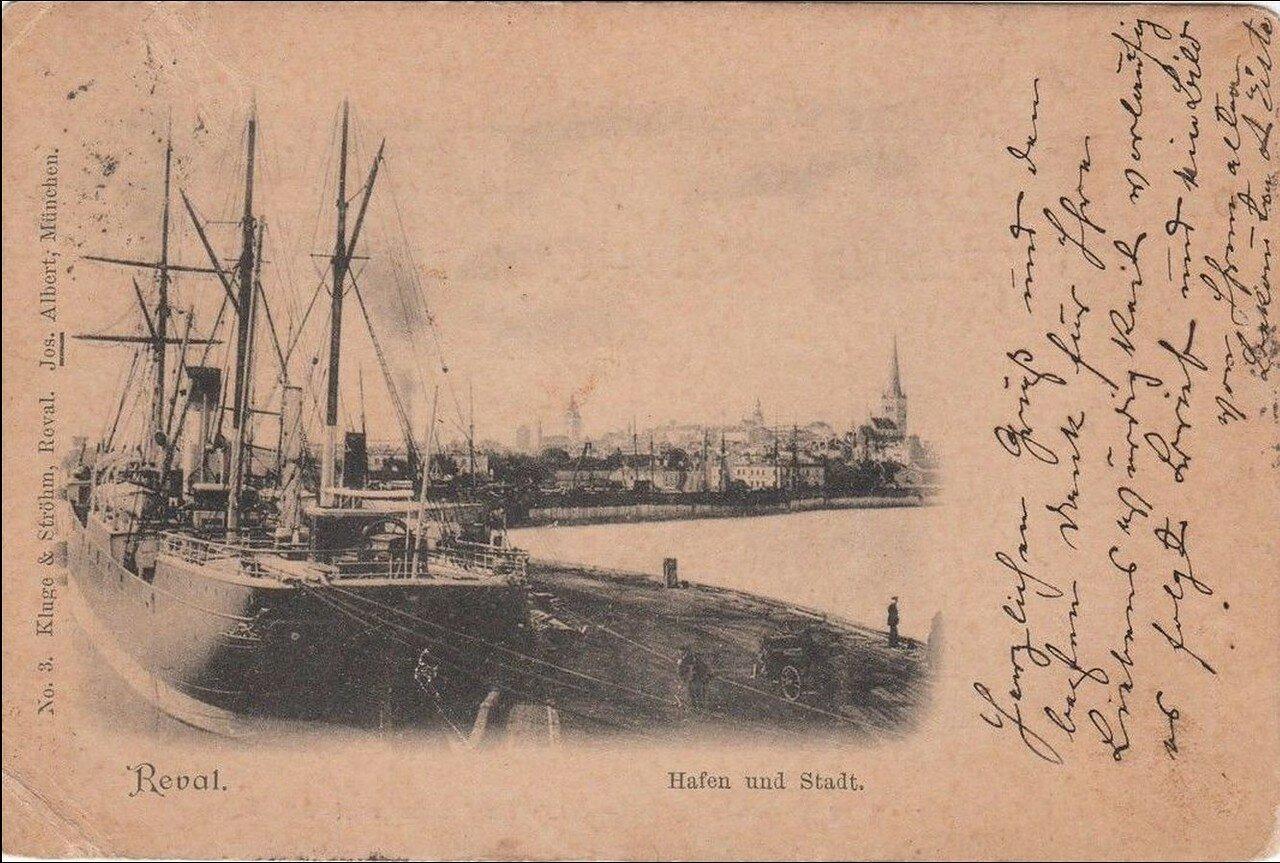 Вид на гавань и город