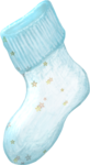 NLD Hello Baby Sock with flowers.png