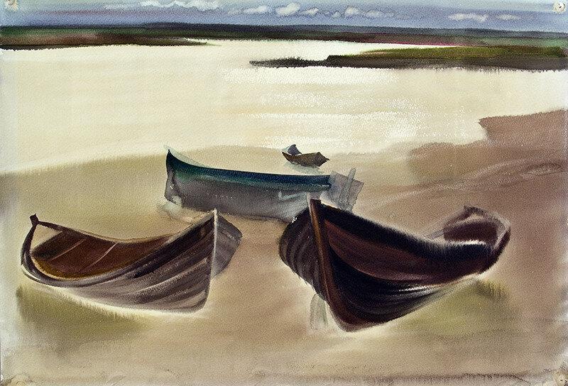 Кулой.-Лодки. / Kuloy.-Boats.
