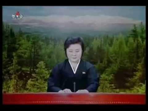 Сообщение о смерти КИМ ЧЕН ИРА на корейском ТВ