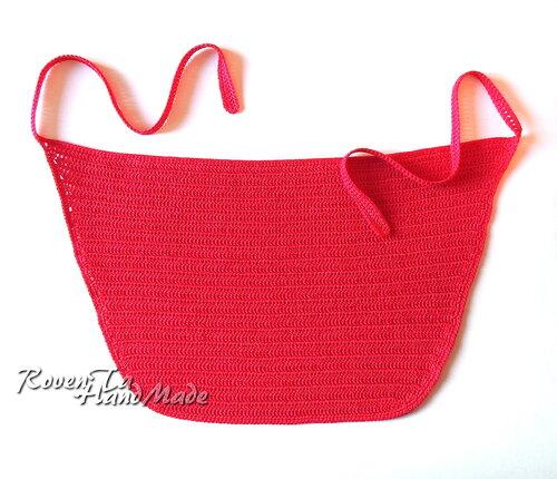 фартук, вязаный фартук, фартук крючком, передник, передник крючком, образ красной шапочки, roventa-handmade