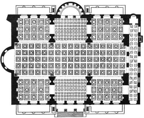 Базилика Максенция и Константина в Риме, план