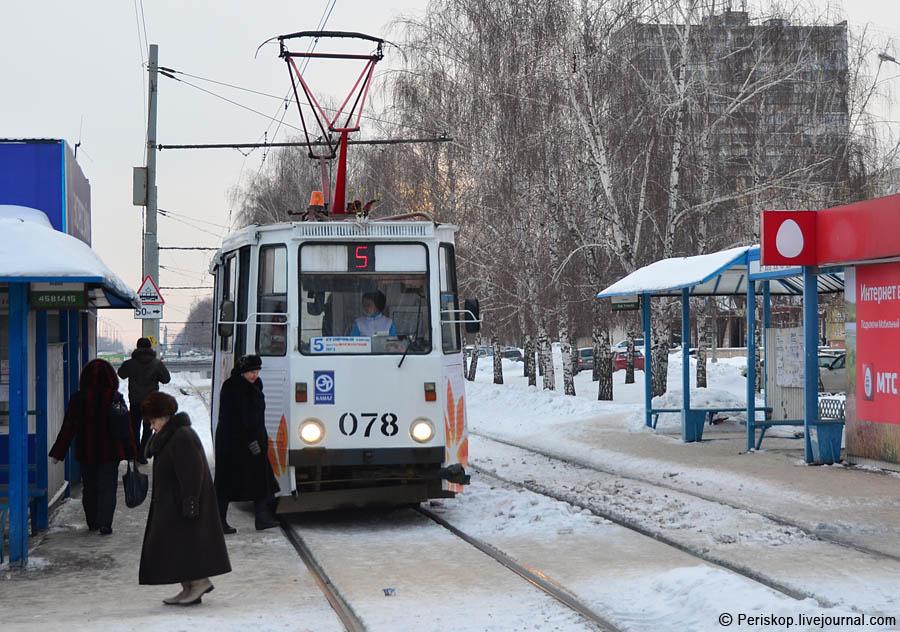 Трамвай тут представлен