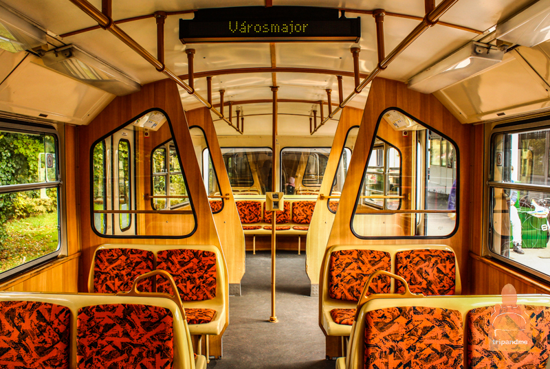 Салон зубчатого трамвая