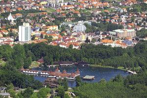 Город Хевиз в Венгрии