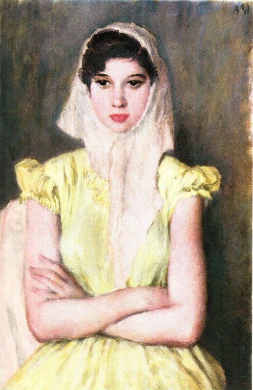 Портрет девушки, 1957 г. | Portrait of a girl, 1957