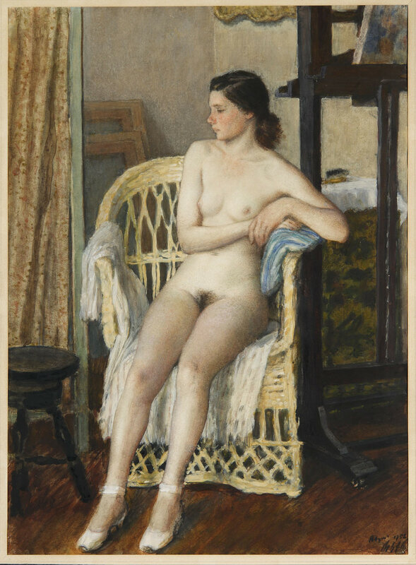 Сидящая натурщица, 1952 г. | Sitting Nude, 1952