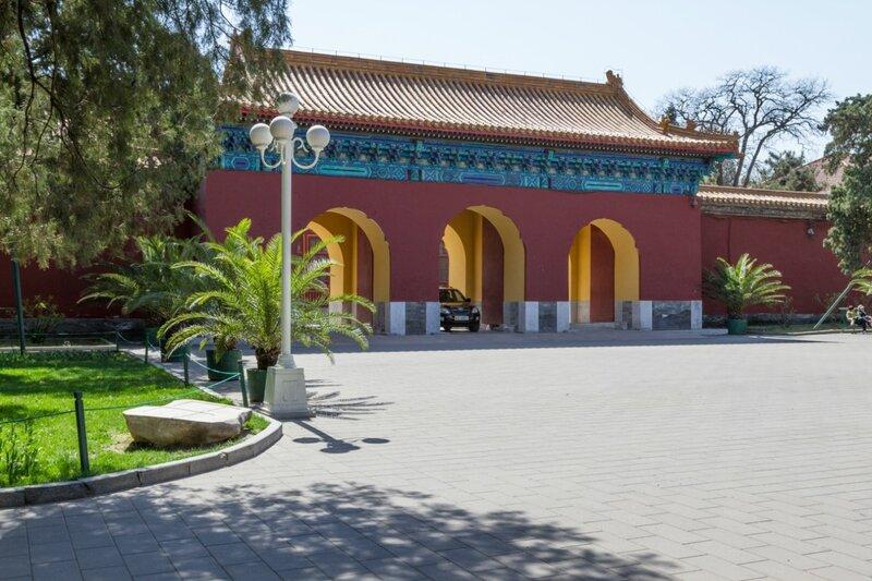 Северный вход в Храм Земли и Урожая, парк Чжуншань гунъюань, Пекин