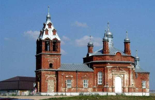 Деревня Кара-Елга, Церковь Вознесения Господня
