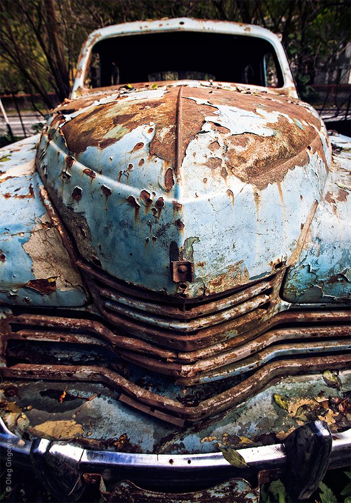 свалка старых автомобилей