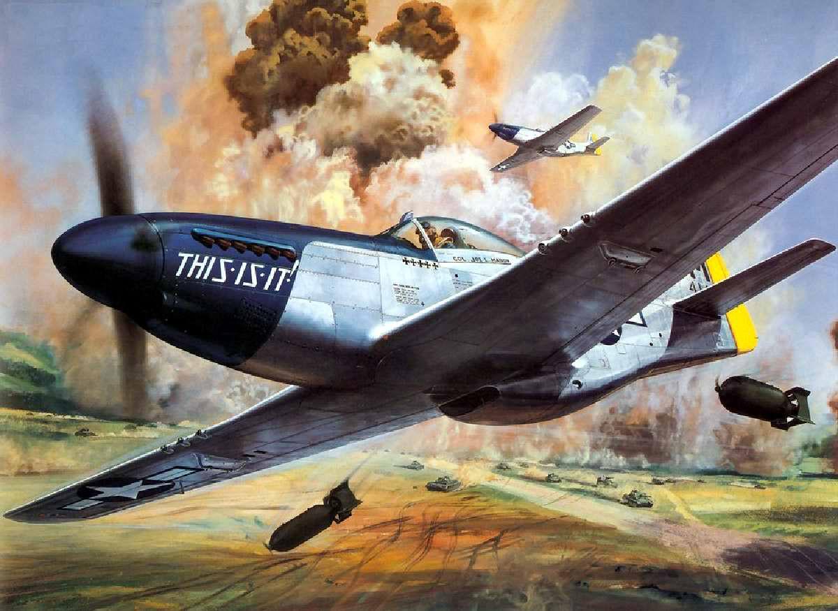 Американский истребитель дальнего радиуса действия P-51 Mustang