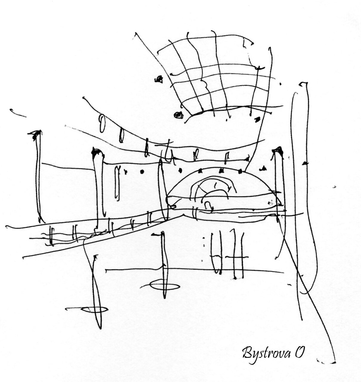 Croquis ( showroom Stilhaus ) 1