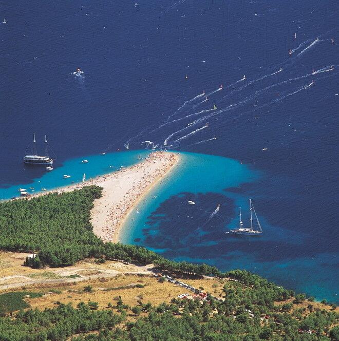 Пляж Золотой мыс (Золотой рог). Хорватия