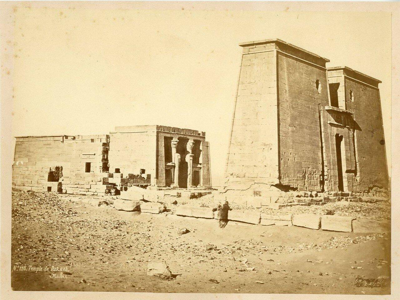 Храм Дакка, Нубия. 1880-е