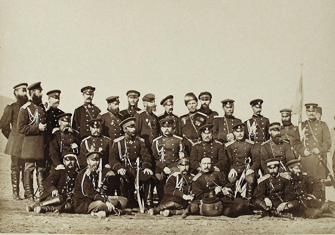Группа офицеров корпусного штаба