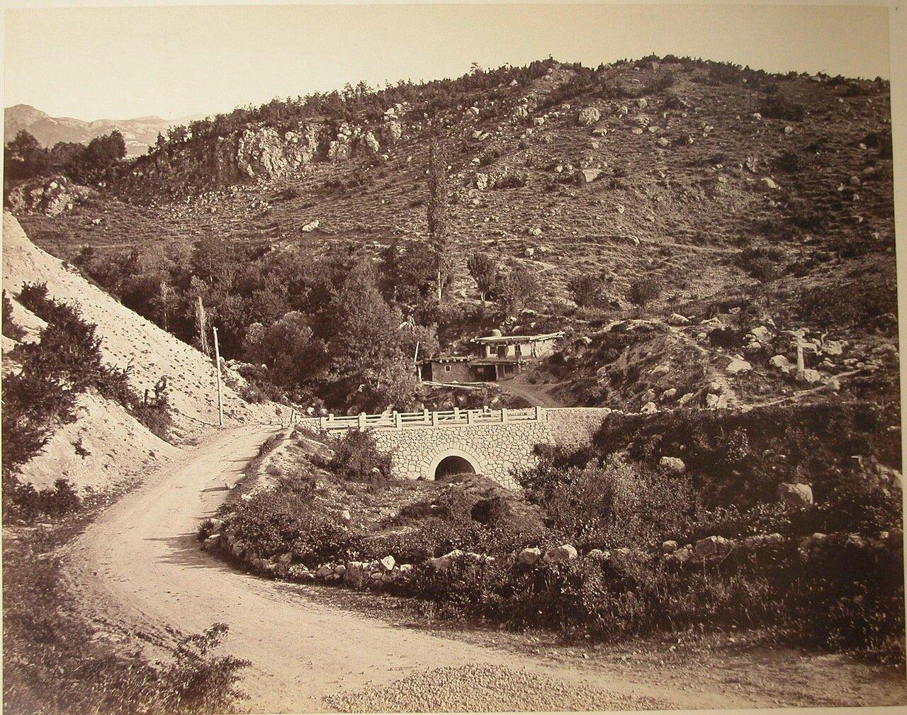 58. Мост у горного перевала по дороге из Ялты в Алушту