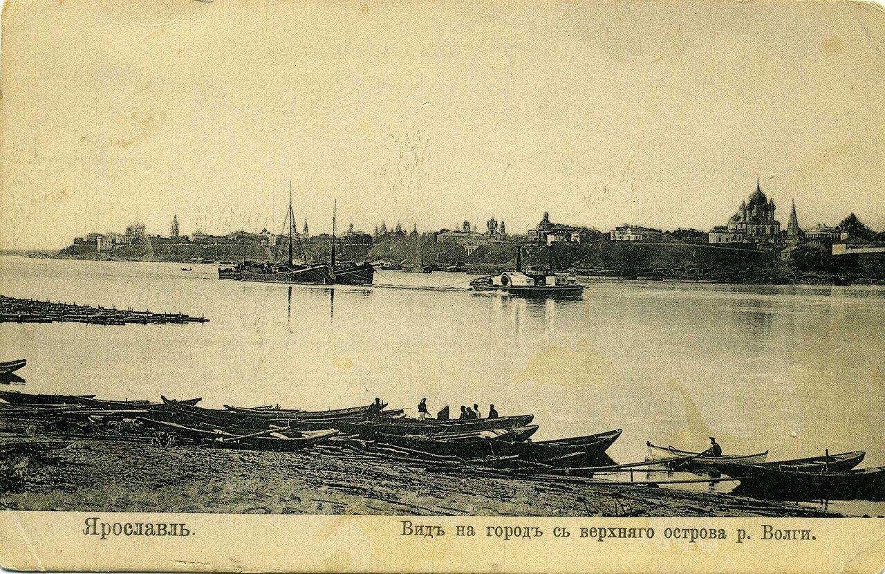 Вид на город с верхнего острова Волги