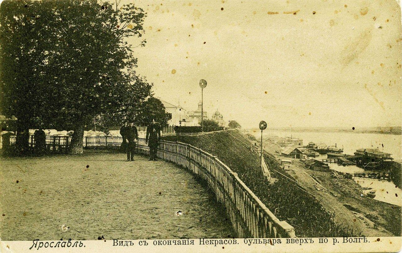 Вид с окончания Некрасовского бульвара вверх по Волге