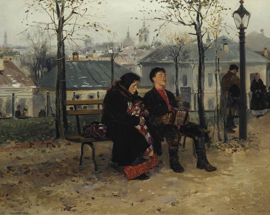 На бульваре. 1886-1887 Государственная Третьяковская галерея, Москва.