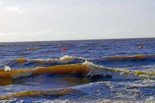 Играют яркие волны