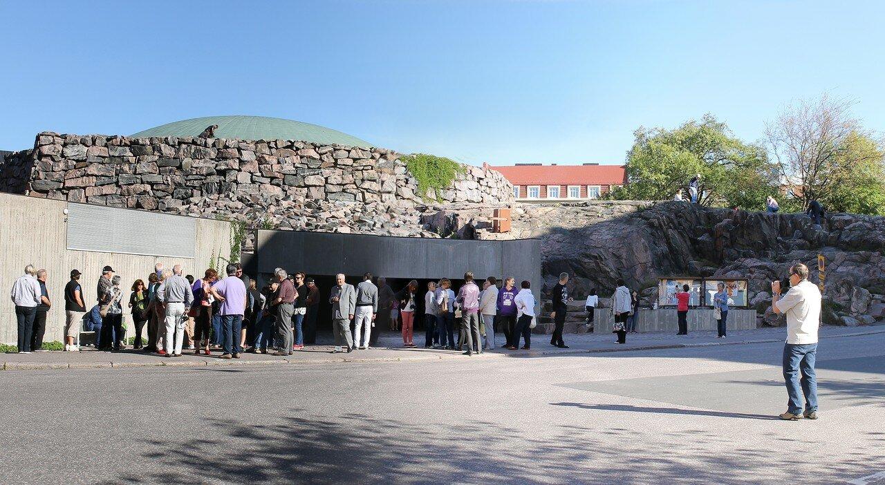 Церковь в скале, Темппелиаукио (Temppeliaukion kirkko,Tempelplatsens kyrka), Хельсинки