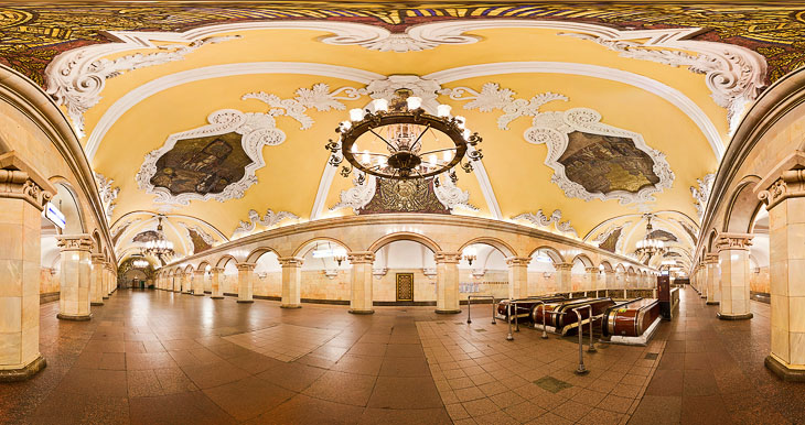 Московское метро: красивые панорамы (29 фото)