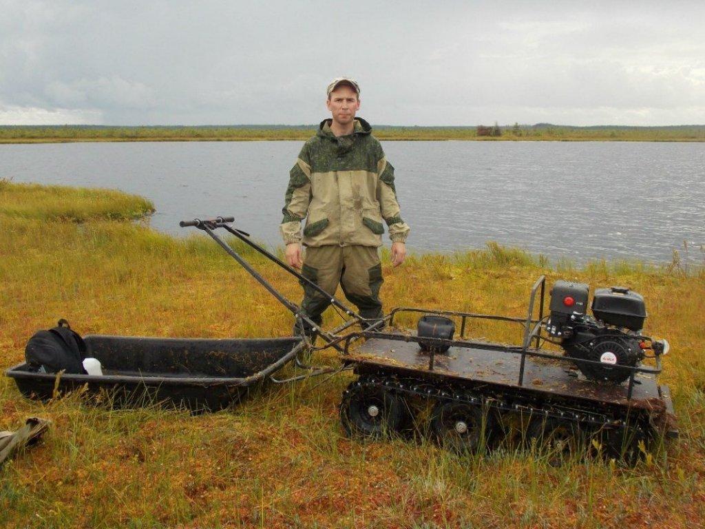 Мотобуксировщик для охоты